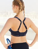Sonic Spacer Wired Sports Bra in Navy by Freya