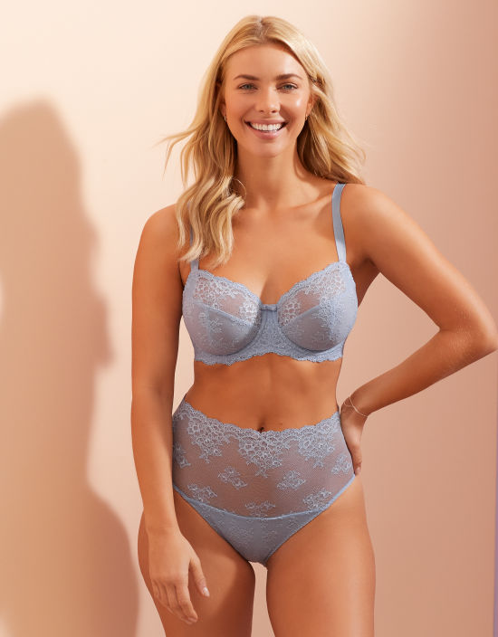 4a214d5f5 Lacey Full Cup Bra in Cornflower by Bravissimo