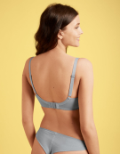 Chi Balconette Bra in Grey Marl by Freya