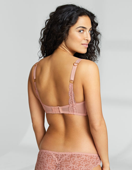 a2dbad747e Ruby Balconette Bra in Blush by Rougette