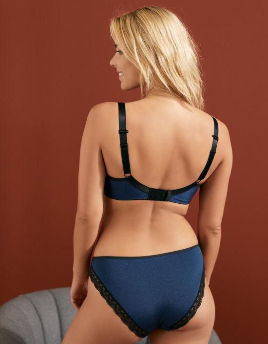 3154bca70 Deco Amore Plunge Bra in Midnight Blue by Freya