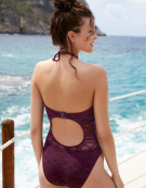 Sundance Swimsuit Bandeau Swimsuit in Black Cherry by Freya