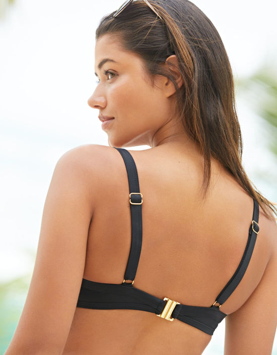0ce47247e6b60 Milano Balconette Bikini Top in Black by Bravissimo