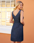 Denim Sundress in Denim Blue by Bravissimo