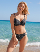 Prague Bikini Top in Spot Print by Bravissimo