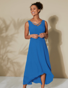 Lyla Strapping Detail Dress in Cornflower Blue by Bravissimo Clothing