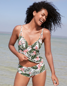 Tropea Tankini Top in Palm Print by Bravissimo
