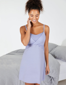 Lace Trim Nightdress Camisole in Cornflower Blue by Bravissimo