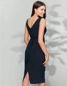 Mallory Wrap Dress in Midnight by Bravissimo Clothing