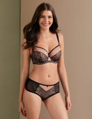 Victory Amore Balconette Bra in Black by Curvy Kate