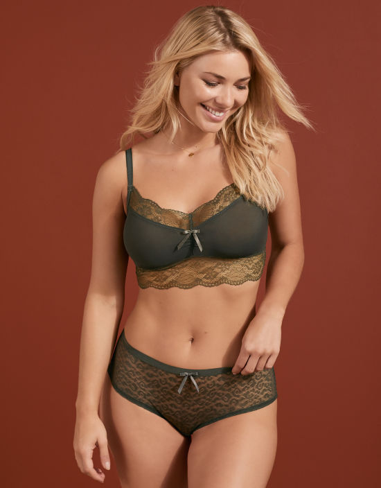 2a29918ed8 Fancies Non Wired Bralette in Khaki by Freya