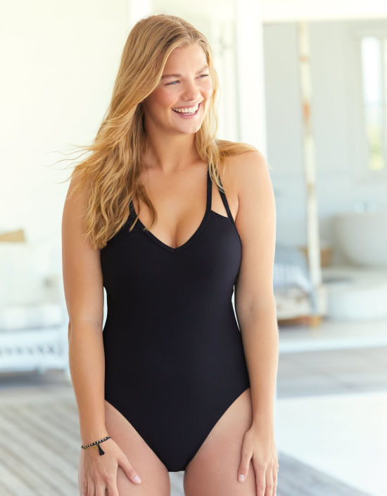 a21c2b58b5c Puerto Rico Swimsuit Wire-Free Swimsuit in Black by Bravissimo