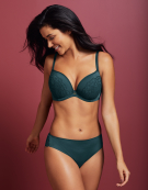 Amber Lace Bra in Emerald Green