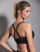 Sonic Spacer Wired Sports Bra in Black by Freya