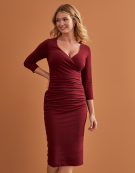 Leila 3/4 Sleeve Dress in Chilli Red by Bravissimo Clothing