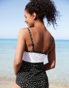 Prague Balconette Tankini Top in Spot Print by Bravissimo