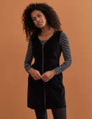 Cord Pinafore Dress in Black by Bravissimo Clothing