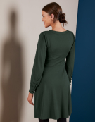 Evie Dress in Forest Green by Bravissimo Clothing