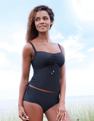 Milano Balconette Tankini Top in Black by Bravissimo