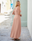 Lyla Strapping Detail Dress in Blush Pink by Bravissimo Clothing