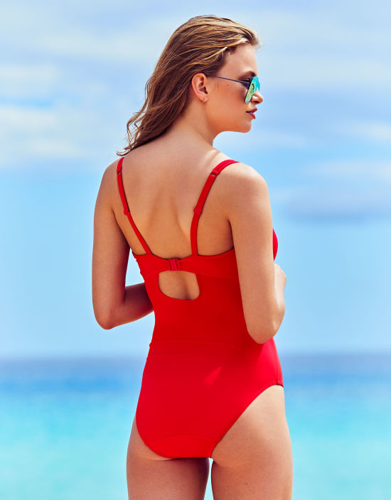 94a6b2bd6c Amalfi Plunge Swimsuit in Poppy Red by Bravissimo