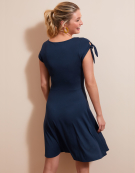 Bow Sleeve Dress in Navy by Bravissimo Clothing