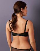Amelie Balconette Bra in Graphite by Miss Mandalay