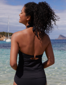 Sorrento Tankini Top in Black by Bravissimo