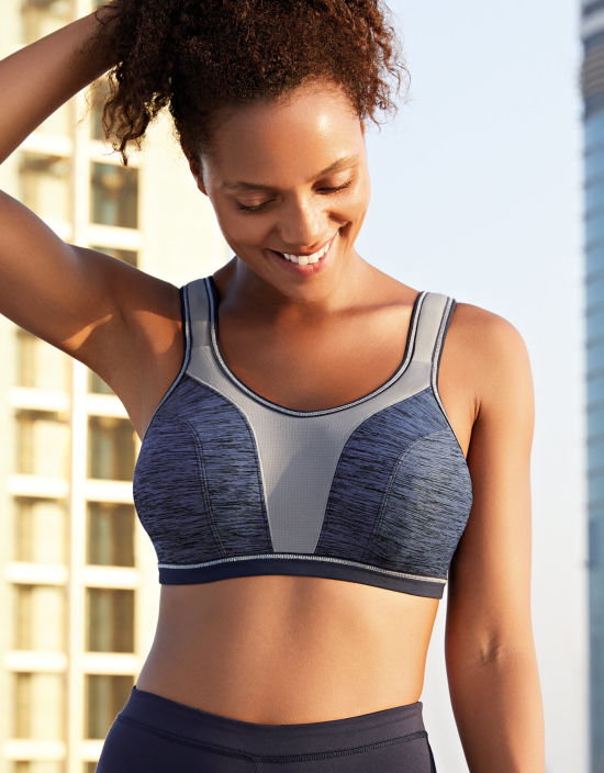29a32e1893 Force Non Wired Sports Bra in Navy by Freya. Sale