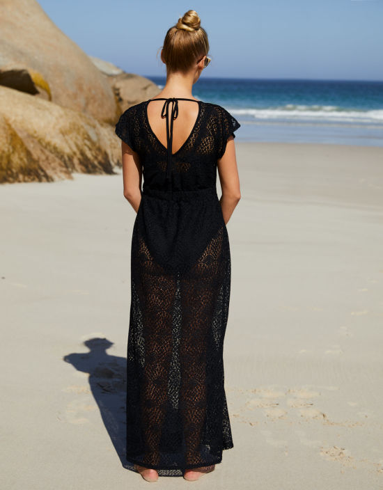 6133a3fee2b5 Maxi Beachdress in Black by Bravissimo
