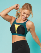 Orbit Sports  Non Wired Sports Bra in Multi Print by Bravissimo