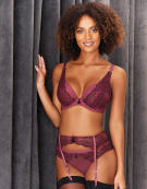 Grace Plunge Bra in Oxblood by Bravissimo