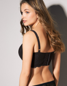 Fancies Longline Half-Cup Bra in Black by Freya