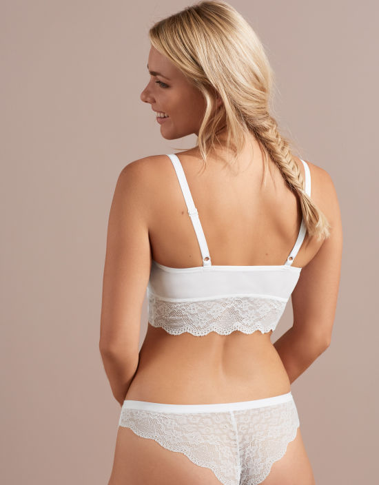 c24a9e9d47 Fancies Non Wired Bralette in White by Freya