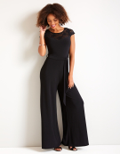 Lace Detail Jumpsuit in Black by Bravissimo
