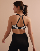 Non-Wired Non Wired Sports Bra in White/Black by Panache Sports