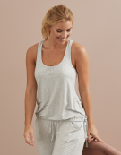 PJ Racerback Top in Grey Marl by Bravissimo