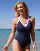 Santa Cruz Swimsuit Wire-Free Swimsuit in Navy by Bravissimo