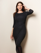 Twist Waist Dress in Charcoal by Bravissimo Clothing