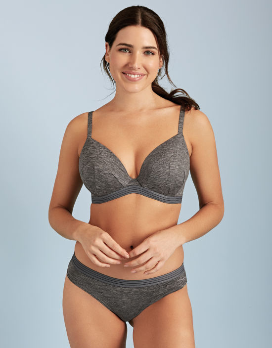 b517881a62a0 Flo Plunge Bra in Grey by Bravissimo