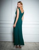 Embellished Maxi Dress in Forest Green by Bravissimo Clothing