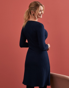 Caitlin Dress in Navy by Bravissimo Clothing