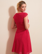 Broderie Dress in Watermelon by Bravissimo Clothing