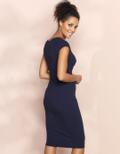 Lois Straight Dress in Navy by Bravissimo Clothing