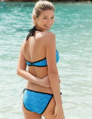Gigi Bikini Top in Blue by Cleo Swimwear