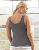 PJ Vest Top in Charcoal by Bravissimo