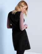 Wrap Pinafore Dress in Black by Bravissimo Clothing