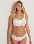 Front Fastening Non Wired Bra in White by Berlei
