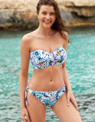 Fiji Bandeau Bikini Top in Palm Print by Fantasie
