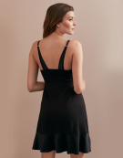 PJ Cami Nightdress Nightdresses in Black by Bravissimo